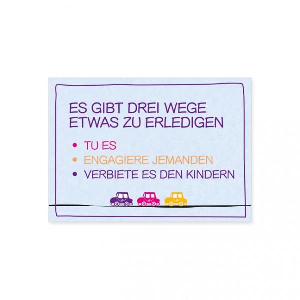 """Postkarte """"Drei Wege"""""""