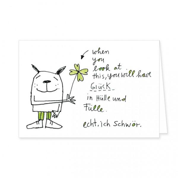 """Doppelkarten """"Glück in Hülle und Fülle"""""""