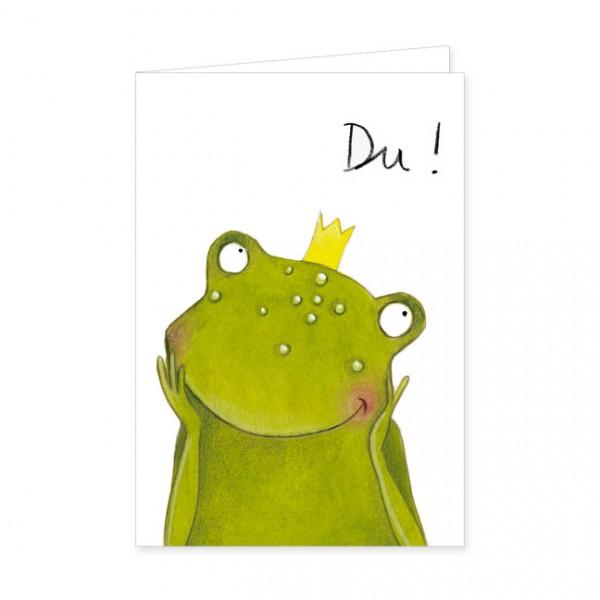 """Doppelkarte """"Frosch der Herzenbrecher"""""""