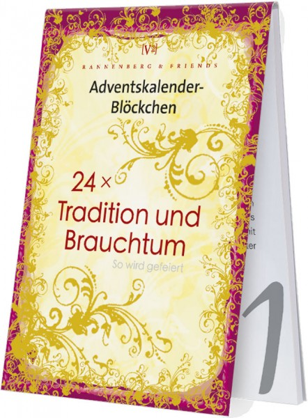 Adventskalenderblöckchen 'Tradition und Brauchtum' RSBW 011