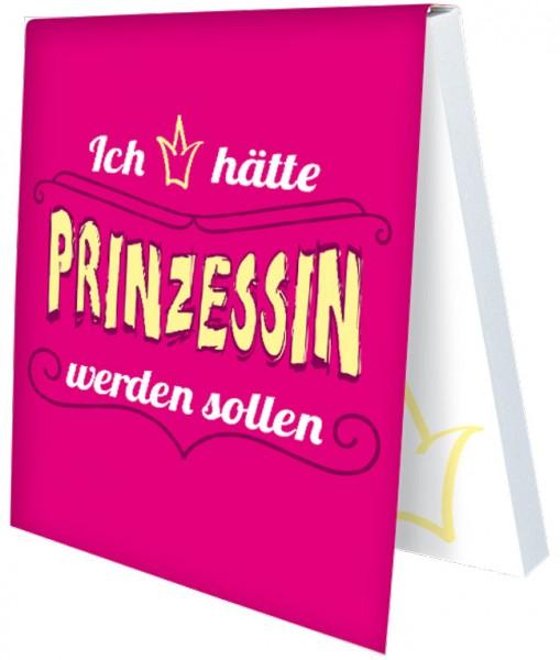 Klebezettel 'Prinzessin wäre schön'