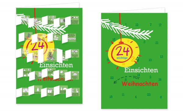 Adventskalenderdoppelkarte '24 wichtige Einsichten vor Weihnachten' von Jutta Wetzel