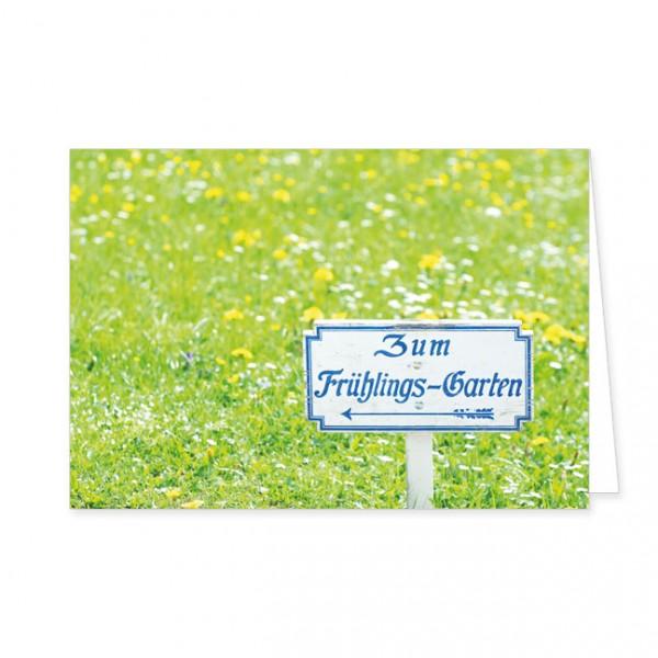 """Doppelkarte """"Zum Frühlingsgarten"""""""