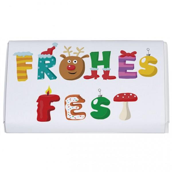 Buchstaben Frohe Weihnachten.X Mas Schoko Täfelchen Frohes Fest Buchstaben