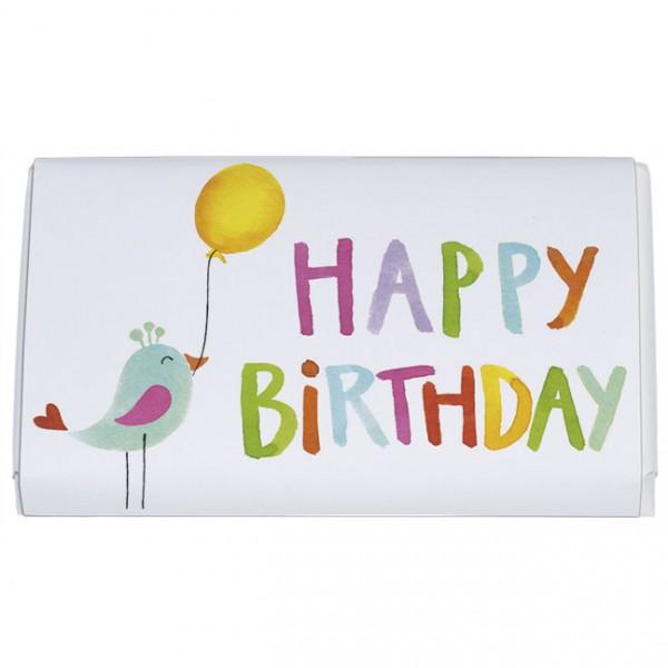 Schokoladentäfelchen 'Happy Birthday'
