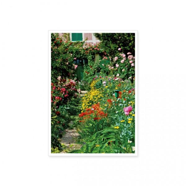 """Postkarte """"Blumenrabatte ini Monets Garten"""""""