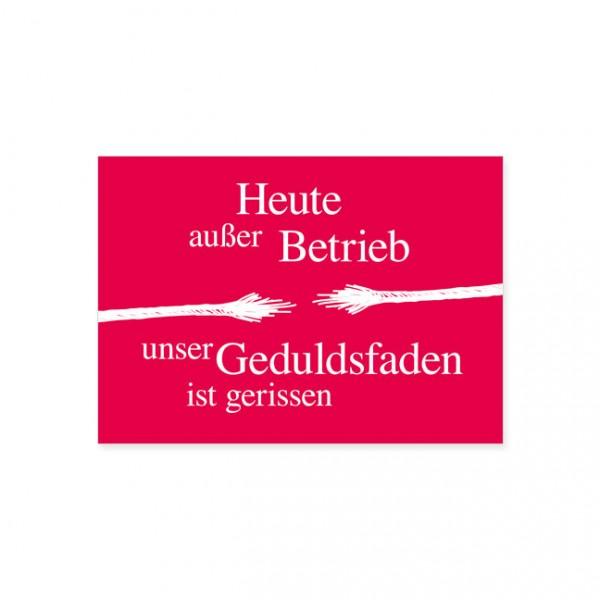 "Postkarte ""Außer Betrieb"""