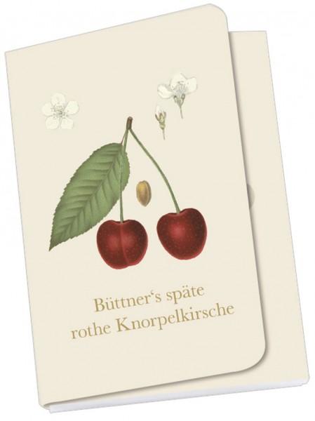 Taschennotizblöckchen 'Kirschen aus der deutschen Pomologie'