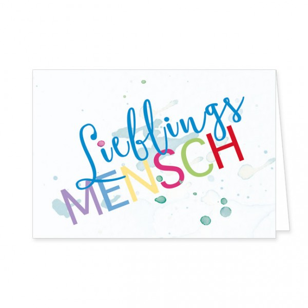"Doppelkarte ""Lieblings Mensch"""
