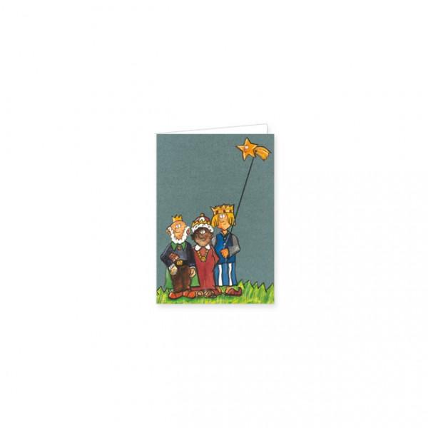 """Mini-Doppelkarte X-Mas """"Die drei Weisen"""""""