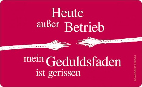"""Brettchen """"Außer Betrieb"""""""