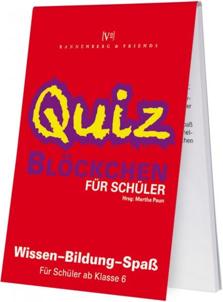 Spieleblöckchen 'Schüler Quiz, ab 6. Klasse'