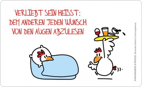 """Brettchen """"Verliebt sein … Jeden Wunsch ablesen"""""""