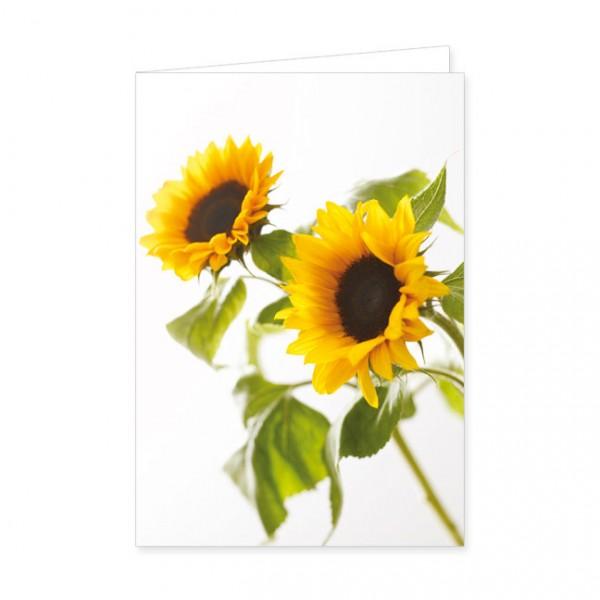 """Doppelkarte """"Blühende Sonnenblumen"""""""