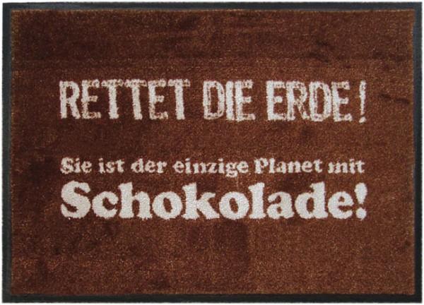 Fußmatte 'Rettet die Erde'