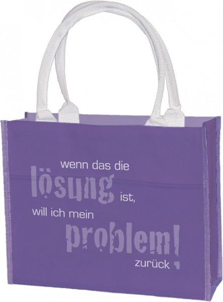 Einkaufstasche 'Wenn das die Lösung ist'