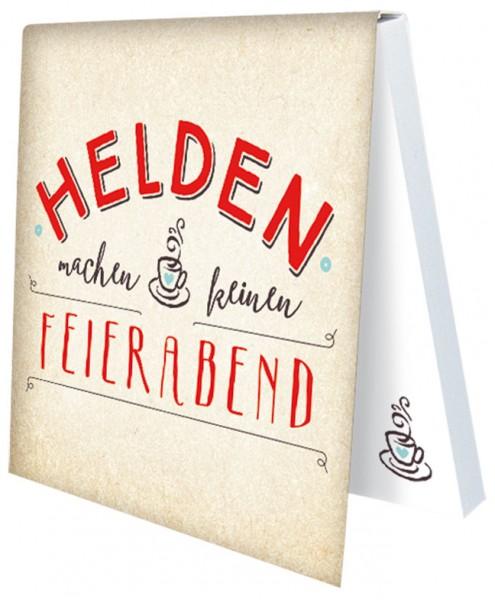 Klebezettel 'Helden'