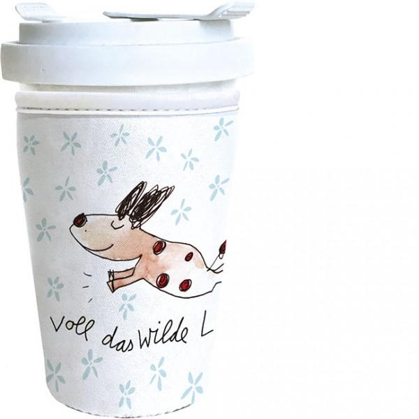"Cup-Cover ""Voll das wilde Leben"""