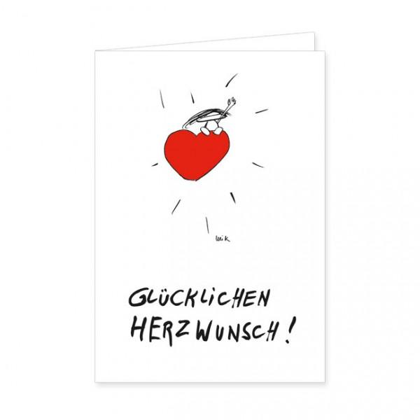 """Doppelkarten """"Glücklichen Herzwunsch"""""""