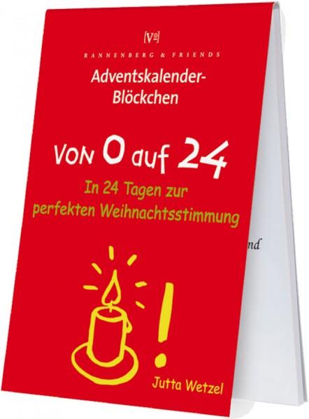 Adventskalenderblöckchen 'Von 0 auf 24' von Jutta Wetzel -RSBW 008