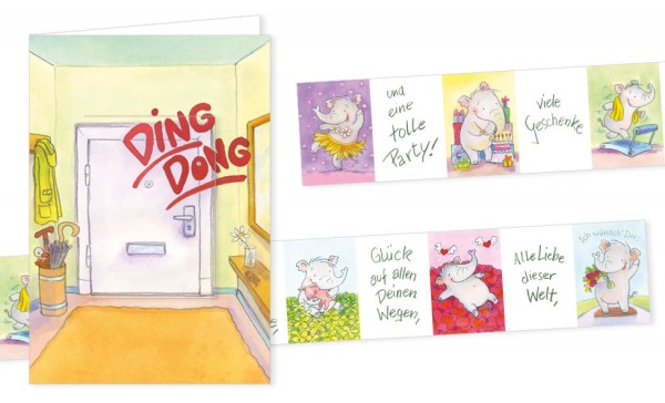 "Türchenkarte ""Ding-Dong"""