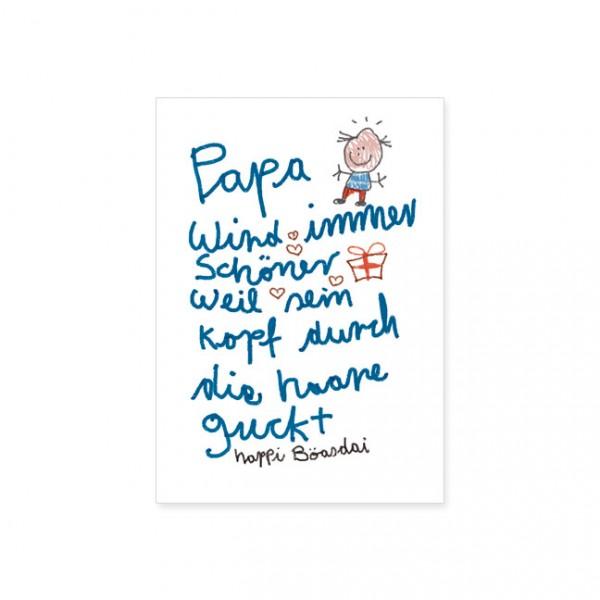 """Postkarte """" Papa wird immer schöner """""""