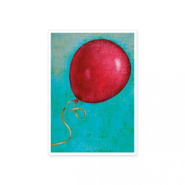 "Postkarte ""Roter Luftballon"""