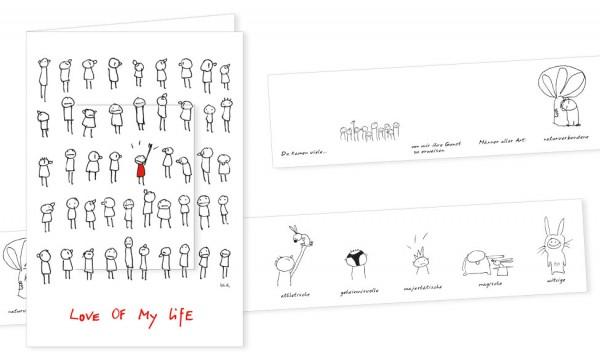 "Türchenkarte ""Love of my life"""