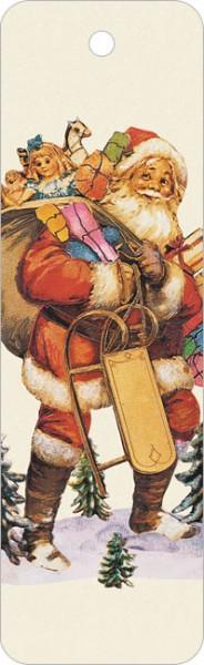 """Lesezeichen X-Mas """"Weihnachtsmann, alte Oblate"""""""