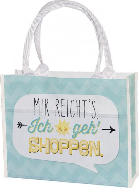Einkaufstasche 'Mir reicht's'
