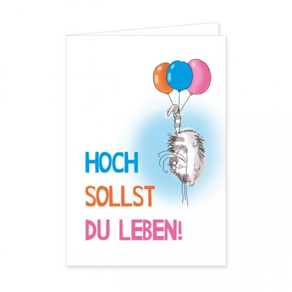 "Doppelkarte ""Catzz - Hoch sollst du leben"""