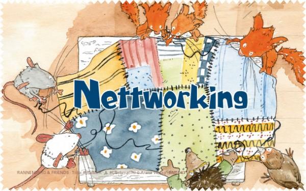 Netbooktuch 'Tilda - Nettworking'