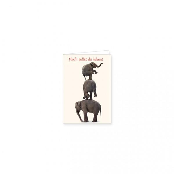 """Mini-Doppelkarte """"Elefantenturm"""""""