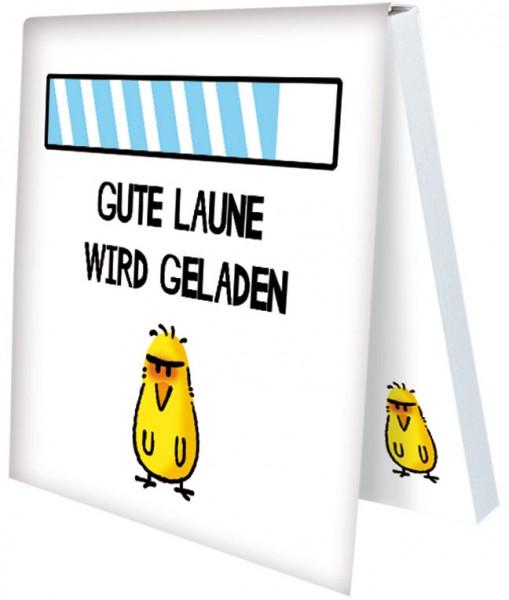 Klebezettel 'Gute Laune laden' von Alexander Holzach
