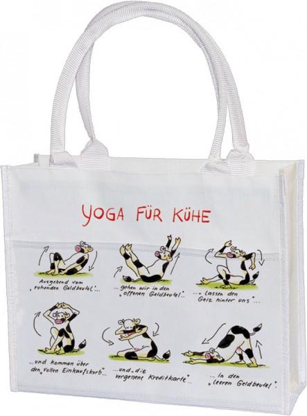 Einkaufstasche 'Yoga für Kühe'
