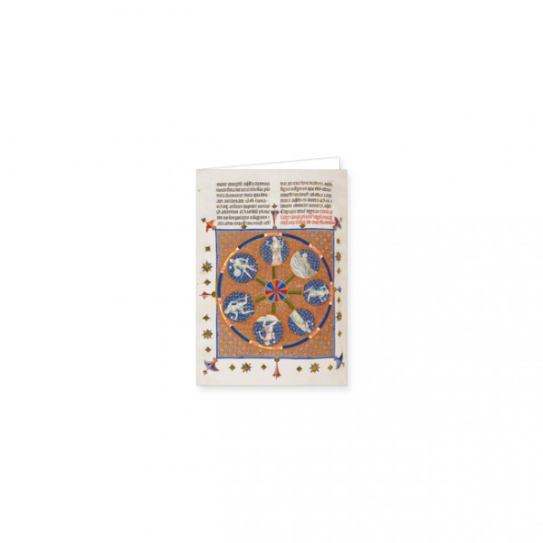 "Mini-Doppelkarten Gold ""Medaillon der sieben Planeten"""