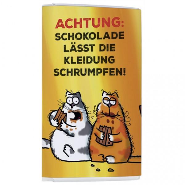 "Schokoladen-Täfelchen ""Catzz - Rätsel gelöst"""