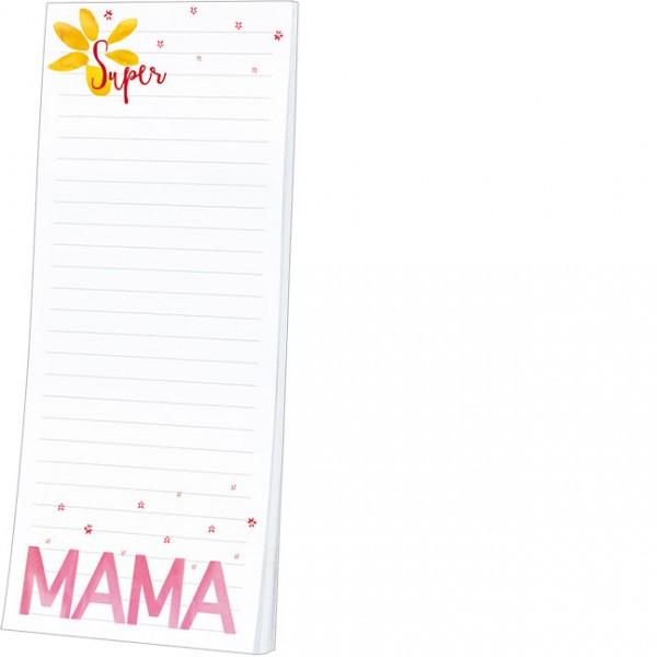 """Kühlschrankblöckchen """"Super Mama"""""""
