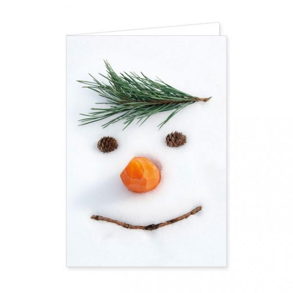 "Doppelkarten X-Mas ""Smiley im Schnee"""