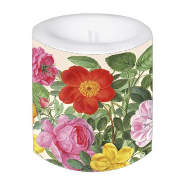 Lampionkerze 'Rosen aus dem Nassau Florilegium'