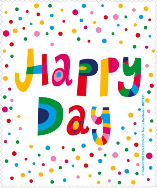 Brillenputztuch 'Happy Day' von Nastja Holtfreter