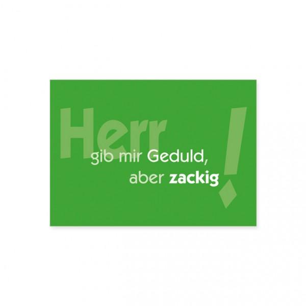 "Postkarte ""Herr gib mir Geduld"""