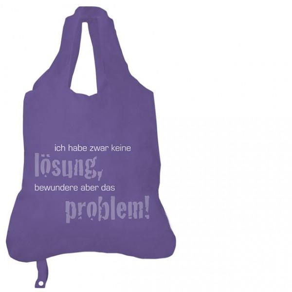 Einkaufsbeutel 'Ich habe zwar keine Lösung'