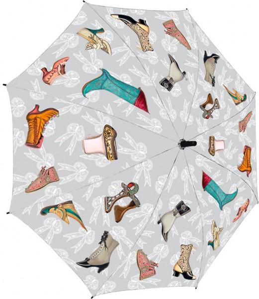 Regenschirm 'Historische Schuhe'