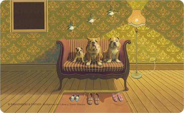 """Brettchen """"Doggs-Bunte Hunde / Creature Comforts"""""""