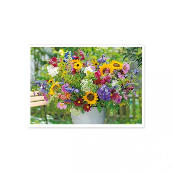 """Postkarte """"Sommerstrauß im Garten"""""""