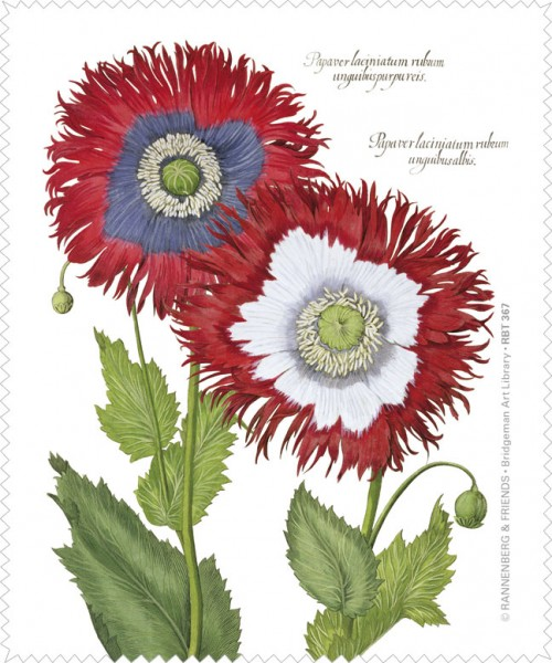 """Brillenputztuch """" Dekorative Mohnblumen """"aus dem Garten von Eichstätt"""" GOES POP """""""