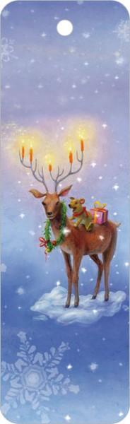 """Lesezeichen X-Mas """"Weihnachtshirsch"""""""