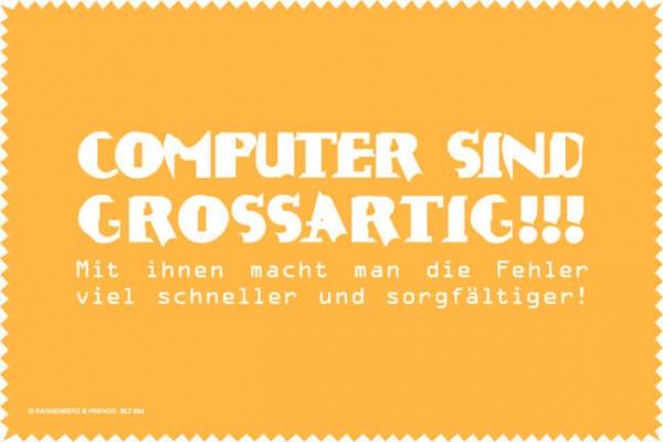 Laptoptuch 'Computer sind großartig'