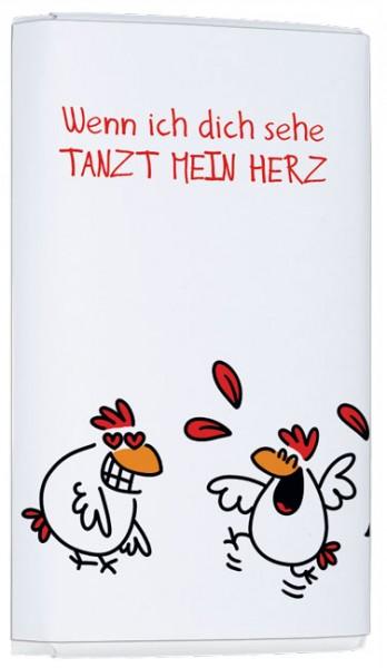"""Schokoladen-Täfelchen """"Mein Herz tanzt"""""""